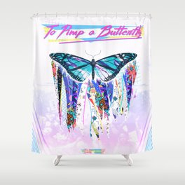 To Pimp a Butterfly 1990s Style Shower Curtain