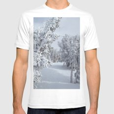Snow MEDIUM Mens Fitted Tee White
