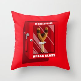 In case of pigs... Throw Pillow