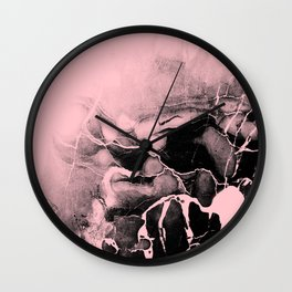 Black Marble and Pink Wall Clock
