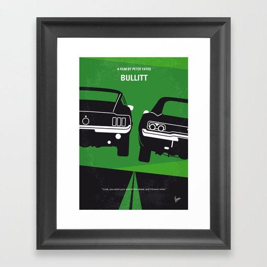 No214 My BULLITT minimal movie poster Framed Art Print