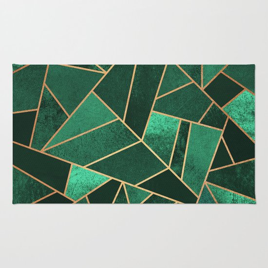 Emerald and Copper Rug by Elisabeth Fredriksson Society6