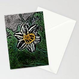Surreal White Daisy  Stationery Cards