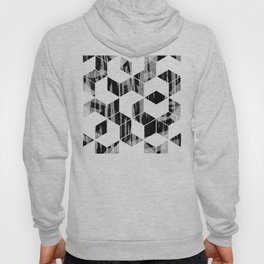 Elegant Black and White Geometric Design Hoody