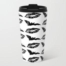 Black lipstick and bats Metal Travel Mug