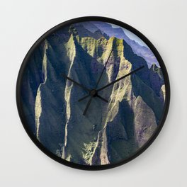 Hawaiian Magic: Angels' View Over Coastal Cliffs Wall Clock