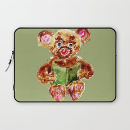 Painted Teddy Bear Laptop Sleeve