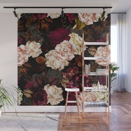 Vintage & Shabby Chic - Midnight Rose and Peony Garden Wall Mural