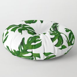 Simply Tropical Palm Leaves in Jungle Green Floor Pillow