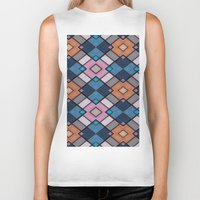 luke hemmings Biker Tanks featuring Pattern LUKE by MehrFarbeimLeben