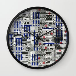 The Way of Invisible Things (P/D3 Glitch Collage Studies) Wall Clock
