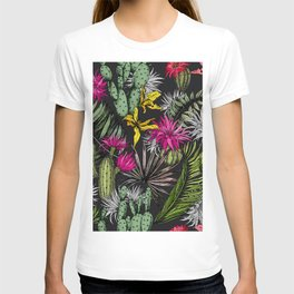Colorful cactus flowers T-shirt
