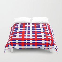 Patriotic Interlocking Stripes Duvet Cover