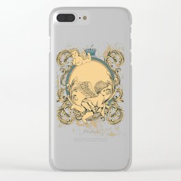 Engraved Guardian Angels Clear iPhone Case