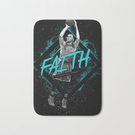 Steph Curry Motivation Art and Quote Bath Mat