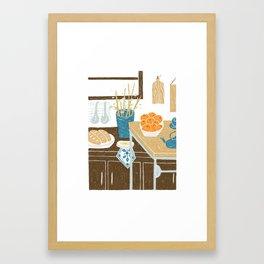 Morning Kitchen Framed Art Print
