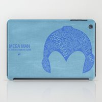 mega man iPad Cases featuring Mega Man Typography by Kody Christian