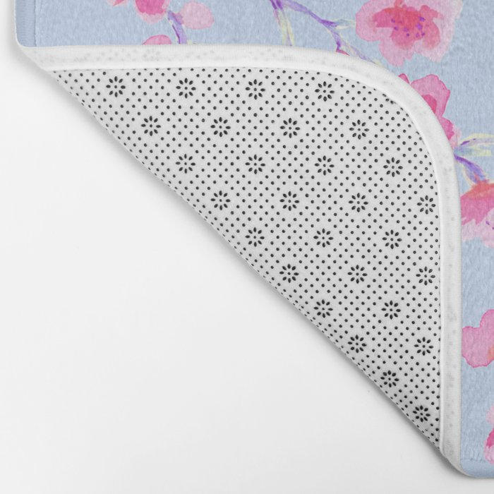 Cherry Blossoms Periwinkle (For Mackenzie) Bath Mat