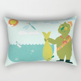 Harold Goes Fishing Rectangular Pillow