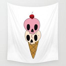 Skull Ice Cream Wall Tapestry