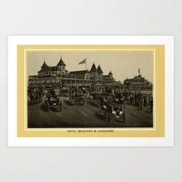 Coney Island - Hotel Brighton & Concourse  Art Print
