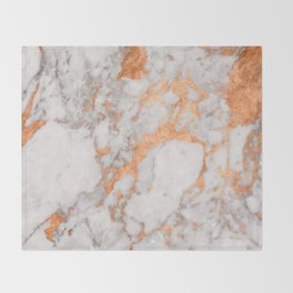 Copper Marble Throw Blanket