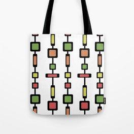 Mid Century Squares Art Tote Bag
