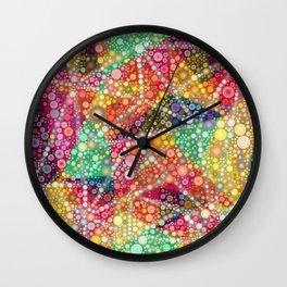 Acid Chemtrail Bubbles Wall Clock