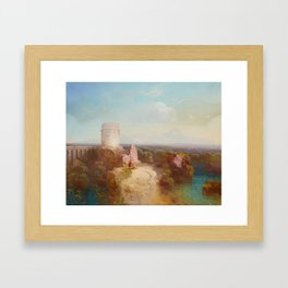 Conrad Schreiber, Landscape in the Roman Campagna with an Aqueduct and Ruins Framed Art Print