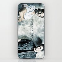 sam winchester iPhone & iPod Skins featuring Supernatural - Sam & Dean Winchester by ElvisTR