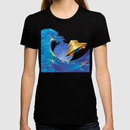 Hokusai Rainbow, UFO & the Moon  T-shirt