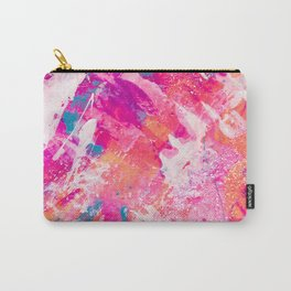 Vibrant Colorful Abstract Splatter Painting with Glitter Carry-All Pouch