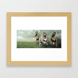 3 Lurkers  Framed Art Print