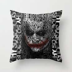Halloween Psycopath Clown Typograph apple iPhone 4 4s 5 5s 5c, ipod, ipad, pillow case and tshirt Throw Pillow