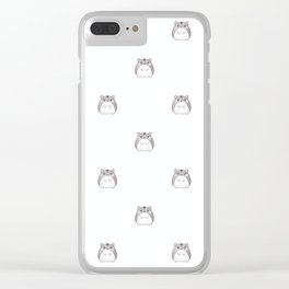 Cute Hamster Pattern Illustration Clear iPhone Case