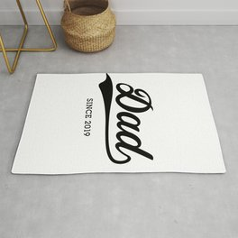 Dad 2019, Daddy Since 2019 Father's Day Gift Rug