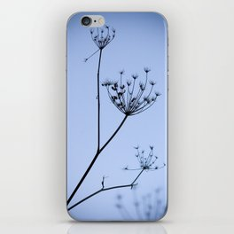 Silhouette on blue iPhone Skin