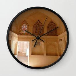 Traditional Door lighting up | Abbasi House | Kashan (Iran) Wall Clock