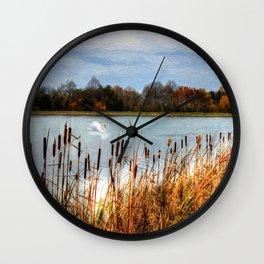 Autumn Swan Wall Clock