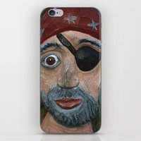 pirate iPhone & iPod Skins featuring Pirate by Fine2art
