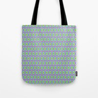 monsters inc Tote Bags featuring Monsters, Inc. Circle Pattern by Jennifer Agu