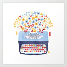 Poetry Typewriter Art Print