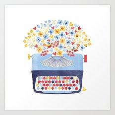 Poetry Typewriter Art Print