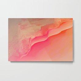 Pink Navel Metal Print