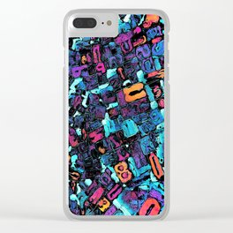 Pop Art Typeset Clear iPhone Case
