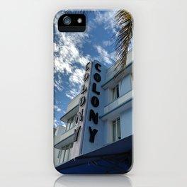 Blue art deco iPhone Case