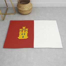 flag of castilla la mancha Rug