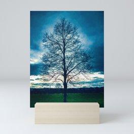 A Lone Tree in Winter Mini Art Print
