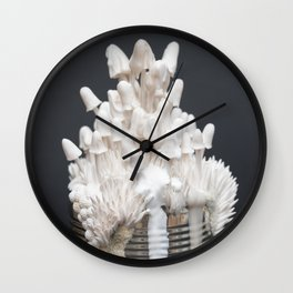 I Can : Doubt, White Mushrooms on Tin Can Wall Clock