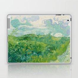 Green Wheat Fields, Auvers, 1890, Vincent van Gogh Laptop & iPad Skin